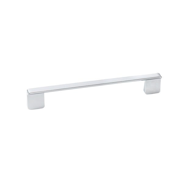 Slim Chrome rectangular pull