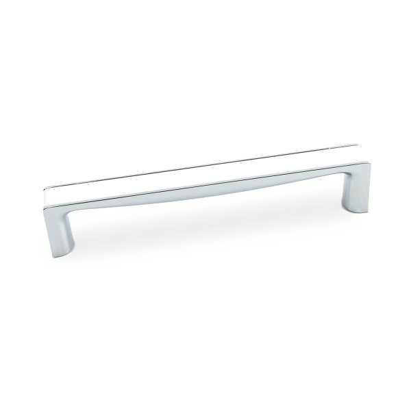 Unique White Chrome Rectangular Pull